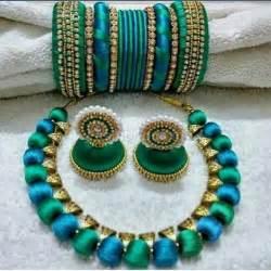 Customized silk thread jewellery fashionous