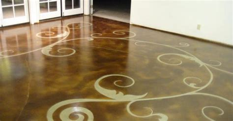 caring for painted floors staining concrete floors the concrete network