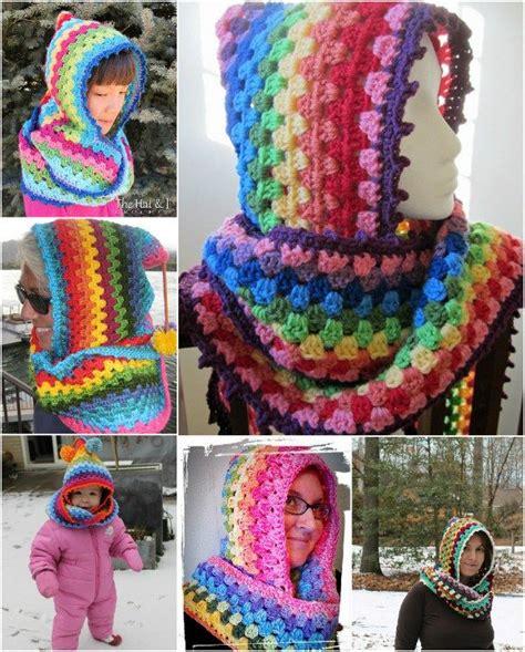 colourful pattern hoodies wonderful diy crochet colorful hoodie cowl with free