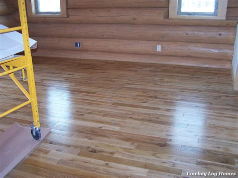 log floor oak wood flooring cowboy log homes