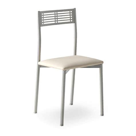 silla  cocina  estructura de metal en color niquel mate