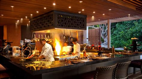 restaurant open kitchen design google search park hyatt maldives hadahaa lets go maldives