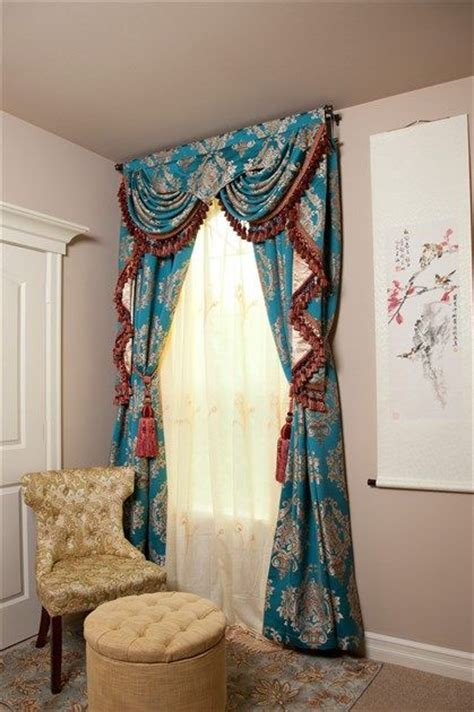 Turquoise Swag Curtains Pin By Ce Luce Curtains On Beautiful Things