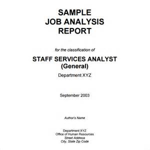 Analysis Report Template by Sle Analysis Report Template 9 Free Document In Pdf