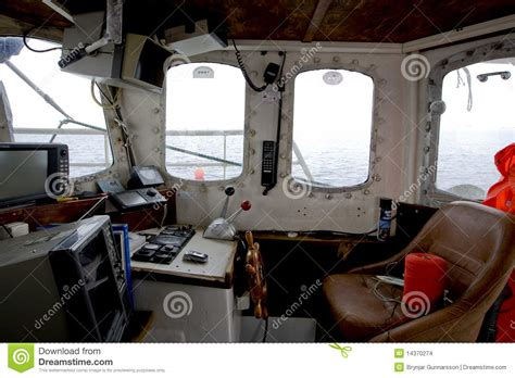 Free Cabin Plans wheelhouse of a small fishing vessel stock images image
