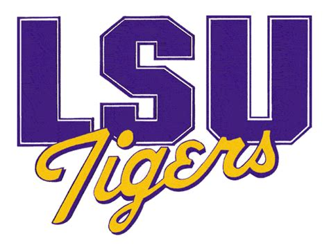 Lsu by Lsu Tigers Alternate Logo Ncaa Division I I M Ncaa I