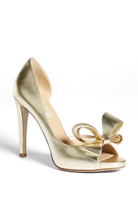 Valentino Metallic Bow Dorsay by Valentino Metallic Gold Bow Shoe Lust