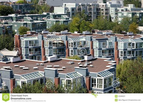 appartments in vancouver condominiums apartments vancouver bc canada stock