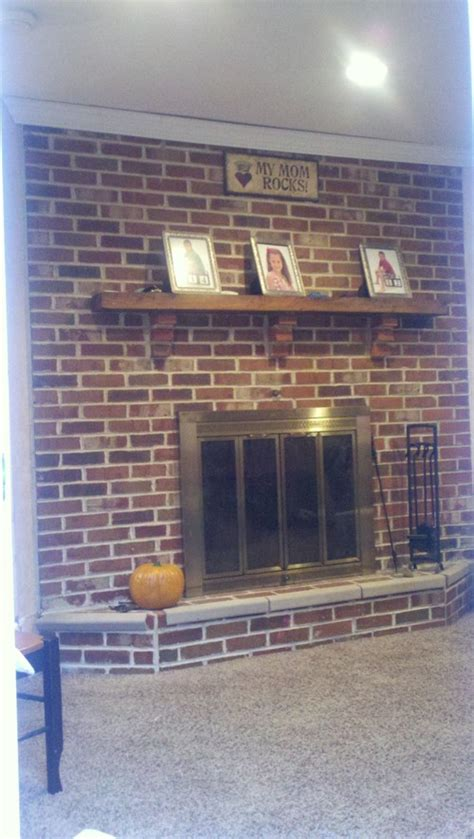 How To Update A Fireplace by Updating A Brick Fireplace
