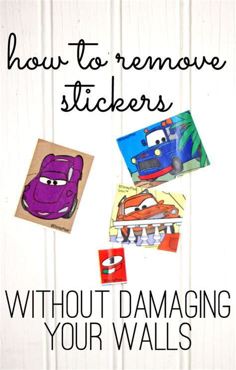 Remove Stickers From Wall how to remove stickers without damaging the walls