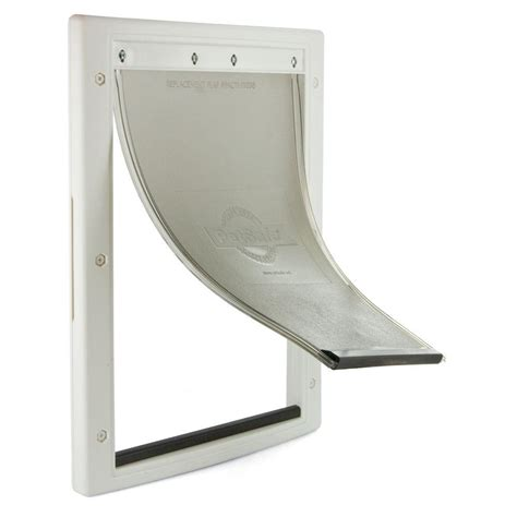 Home Depot Pet Doors by Petsafe 8 125 In X 12 25 In Medium White Plastic Pet