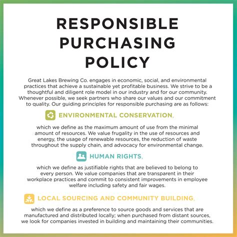 procurement policy template free great lakes brewing company cleveland ohio gift shop