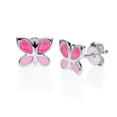 boucles d oreilles papillon pour enfants