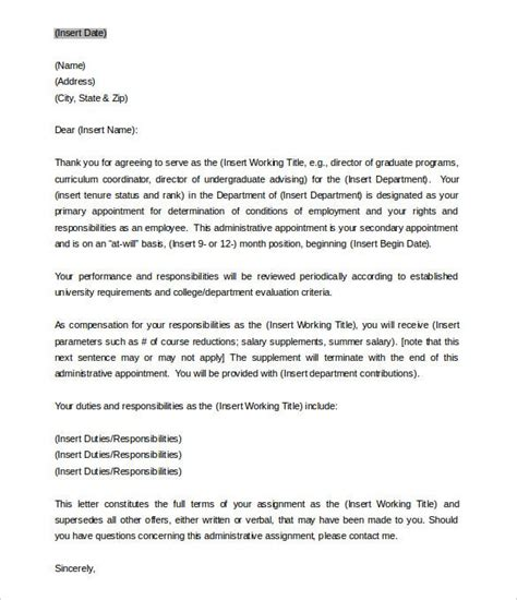 appointment letter templates google