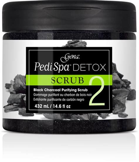 Gena Pedi Spa Detox Reviews by Pedi Spa Detox Black Charcoal Scrub 14 6 Oz