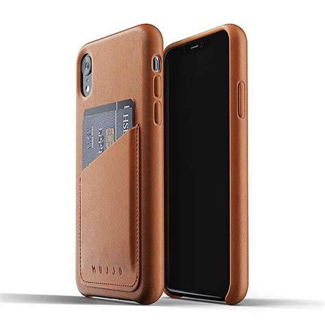 mujjo leather iphone xr wallet case gadgetsin