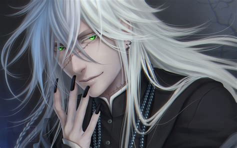 Chain For Samsung Note 2note 3note 4note 5 black butler scar white hair anime character