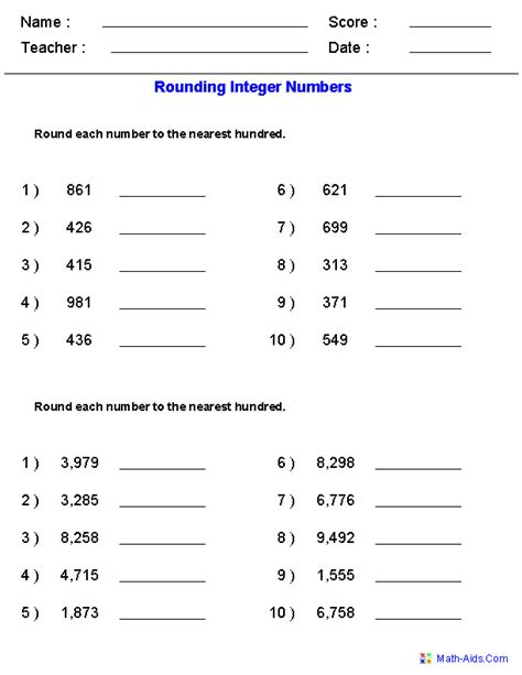 Rounding To The Nearest 10 Worksheets 3rd Grade by Rounding Worksheets Rounding Worksheets For Practice