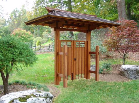 japanese garden backyard landscape design and custom gate