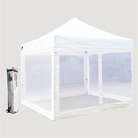 10 X 14 Ez Up Canopy by Basic 10 X 10 Ez Pop Up Canopy Mesh Tent With 4