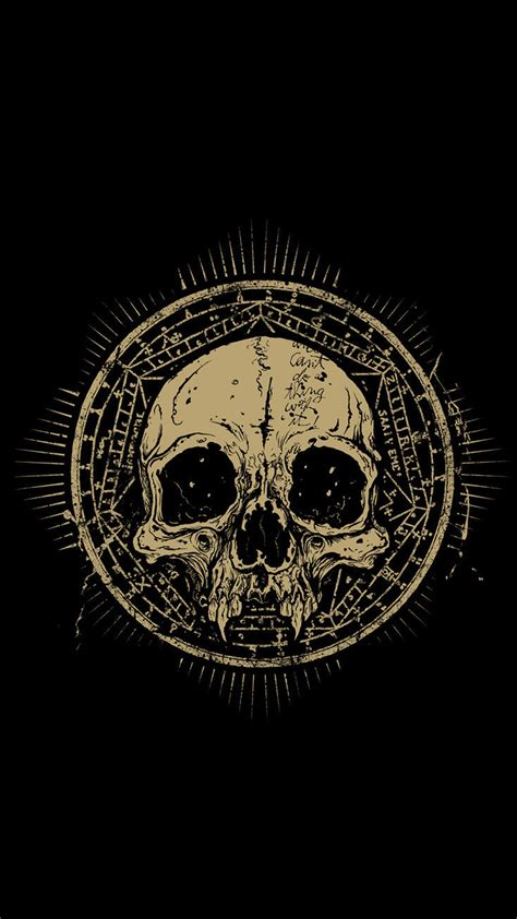 wallpaper android skull skull talisman grunge android wallpaper free download