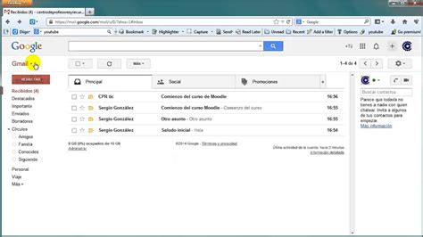 gmail bandeja de entrada gmail bandeja de entrada y mensajes youtube