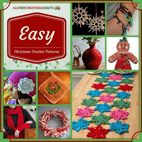 crochet christmas crafts 23 easy crochet patterns allfreechristmascrafts