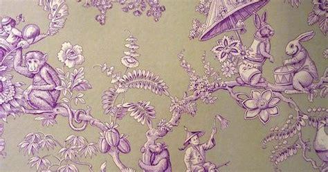 Monkey Toile Wallpaper