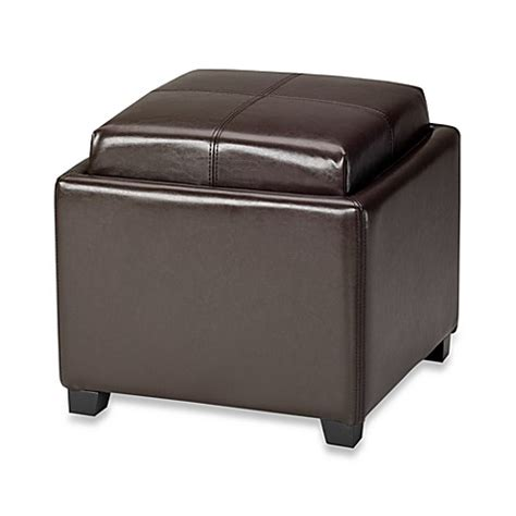 Safavieh Hudson Collection Gramercy Leather Single Tray Ottoman Furniturendecor Buy Safavieh Hudson Leather Harrison Single Tray Ottoman In Brown From Bed Bath Beyond