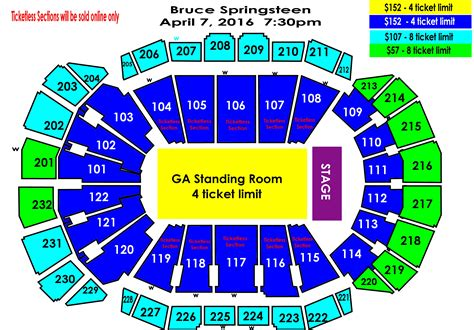 sprint center concert seating capacity sprint center seating charts