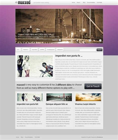 blog theme portfolio top 10 wordpress purple color themes for purple lovers