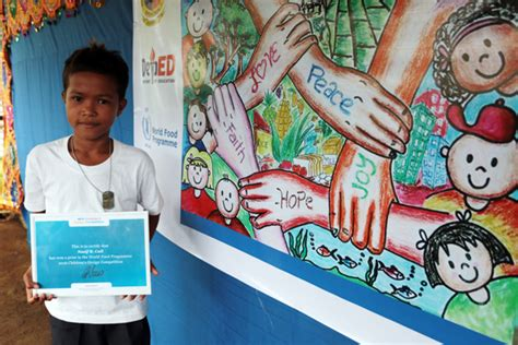 design contest philippines 2016 lanao del norte student wins wfp children s design
