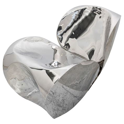 ron arad stainless steel sofa polished stainless steel quot big heavy quot by ron arad at 1stdibs