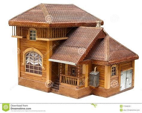 house made model of the house made of wood stock photos image 17348533
