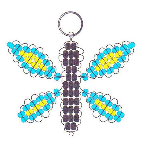 beaded butterfly key chain
