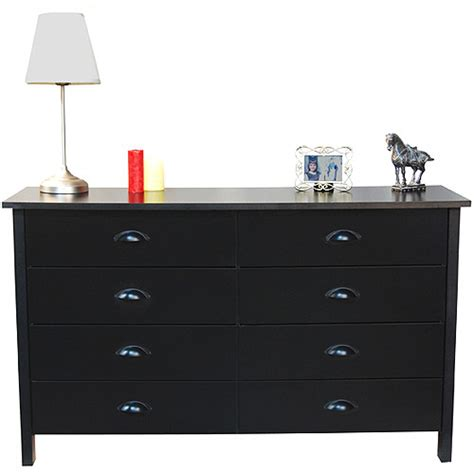 nouvelle 8 drawer dresser black walmart