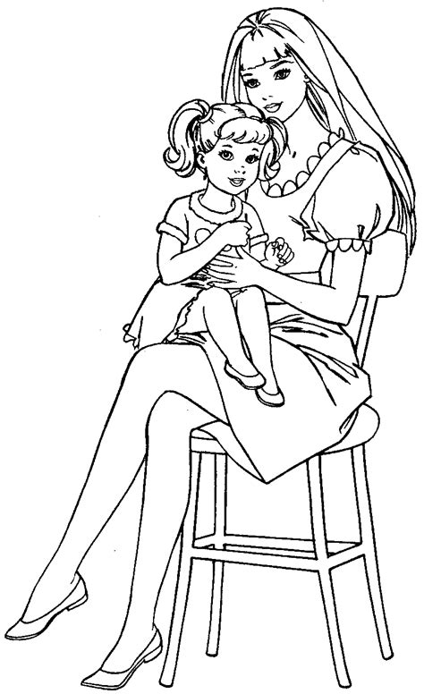 free barbie printable coloring pages