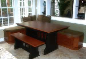 Table Benches Kitchen Bruno Woodworking Custom Wooden Furniture