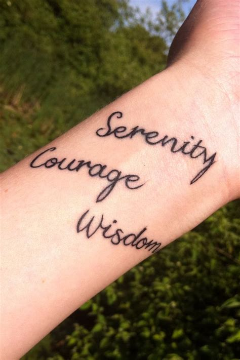 serenity courage wisdom tattoos