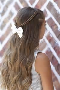 Braid tieback back to school hairstyles cute girls hairstyles