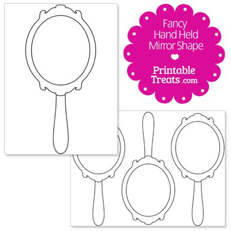 printable hand shapes printable fancy hand mirror shape template princess