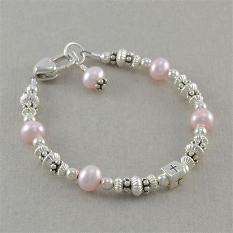 baby baptism bracelets christening pearl by