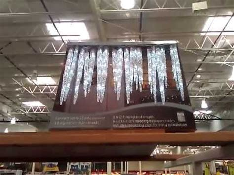 ge christmas lights costco ge twinkling led icicle lights costco youtube