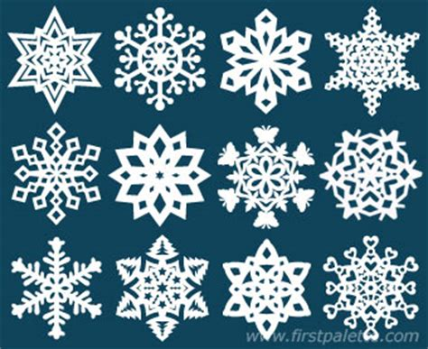 For Paper Snowflakes - paper snowflake craft crafts firstpalette