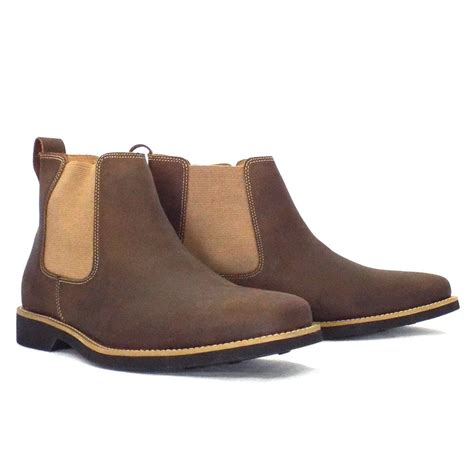 cognac mens boots anatomic gel cardoso leather mens boot from mozimo