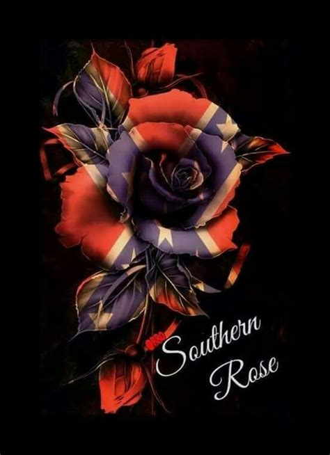 rebel flag rose tattoos conferate confederate proud southern