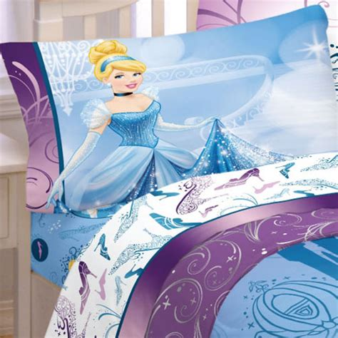 Disney Cinderella Bed Set 3pc Disney Cinderella Glass Slipper Bed Sheet Set