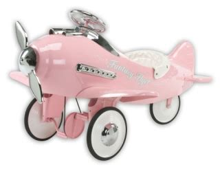 fantasy flyer pink pedal plane toddlers treasures