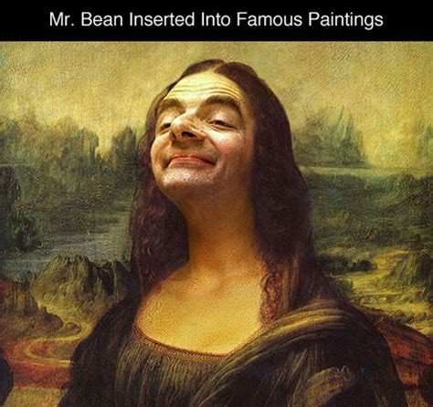painting mr bean photoshopping mr bean into paintings barnorama