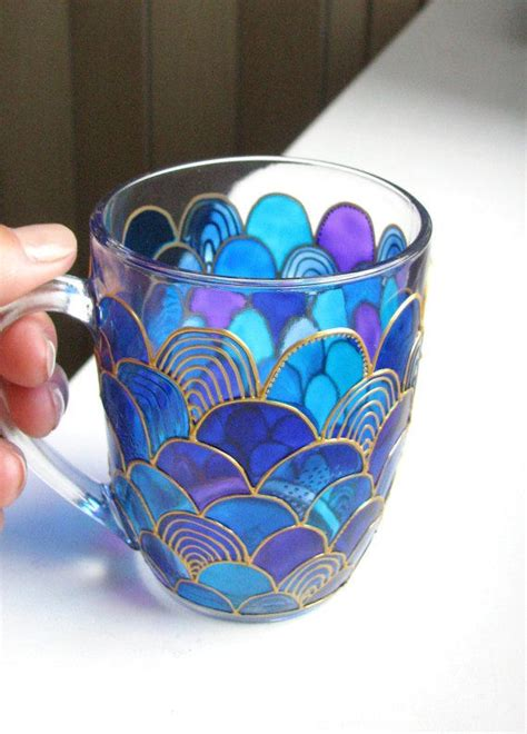 painted glass coffee the 25 best painted coffee mugs ideas on pinterest